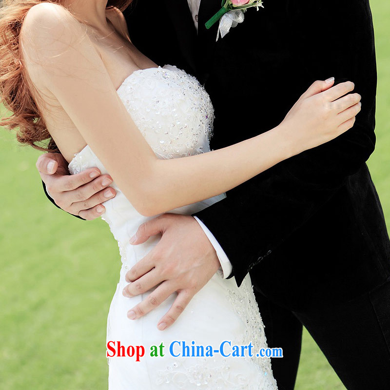 The wedding dresses 2015 new sexy lace crowsfoot erase chest Korean Princess tail wedding 936 L, the bride, shopping on the Internet