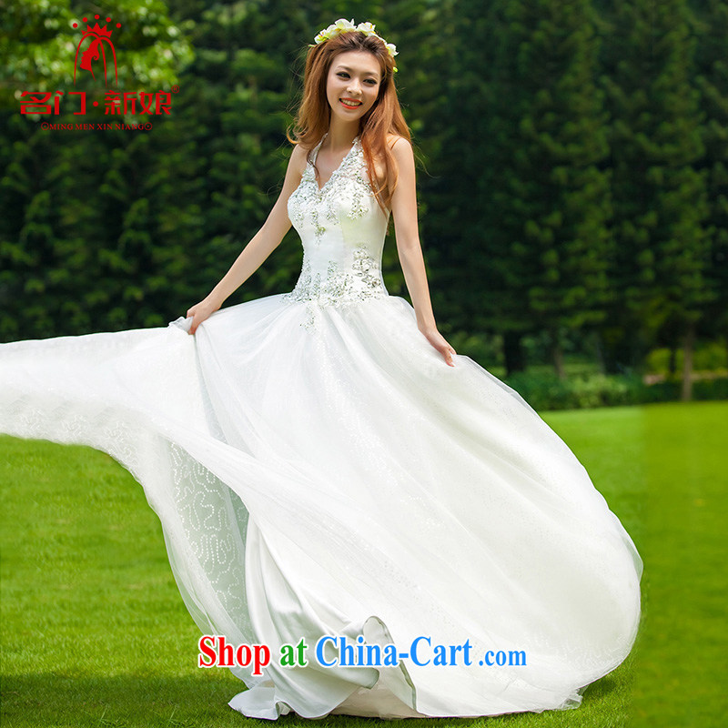 The wedding dresses new 2015 Korean sweet Princess simplicity is also the strap V-neck sexy wedding 937 L