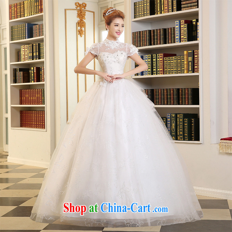 The Vanessa marriages wedding dresses summer 2015 new white long with Princess skirt the Field double-shoulder wedding winter, wedding lace wedding A field skirt white XXL (high decals and stylish package shoulder)