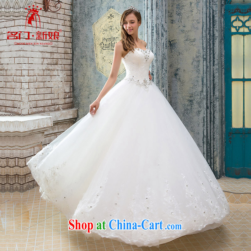 The bride's wedding dresses new 2015 winter bridal toast winter clothing erase chest wedding 929 L