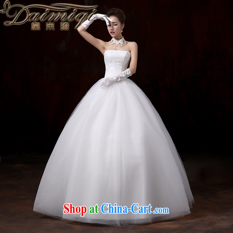 Diane M Ki wedding dresses 2015 new and stylish and elegant lace lace wiped his chest to tie bridal elegant fresh large-tail wedding with XL