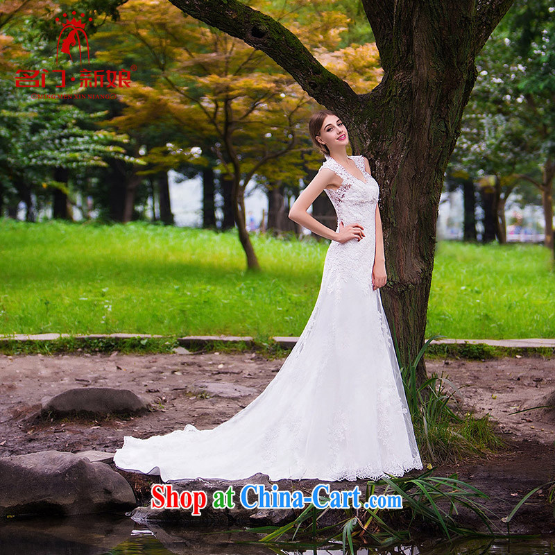 The bride's wedding dresses new 2015 new stylish wedding crowsfoot wedding bridal wedding 863 L