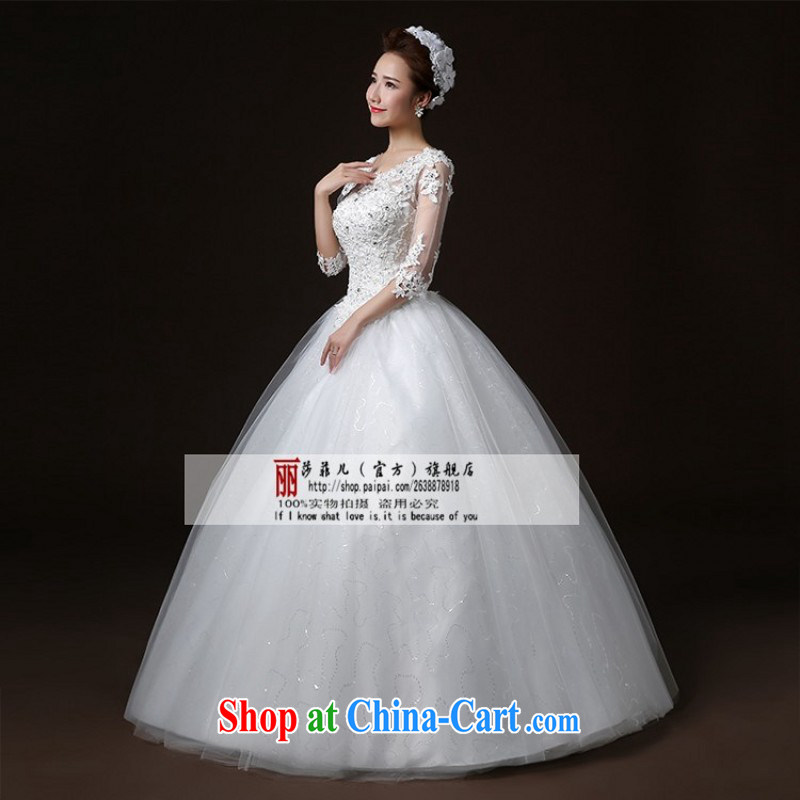 wedding dresses new 2015 fashion with the bride, graphics thin lace pregnant women custom wedding long-sleeved spring and summer L pieced