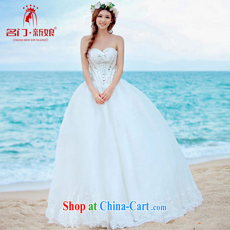 The bride's wedding Luxury Water drilling wedding Korean Princess with wedding 2015 new 917 L