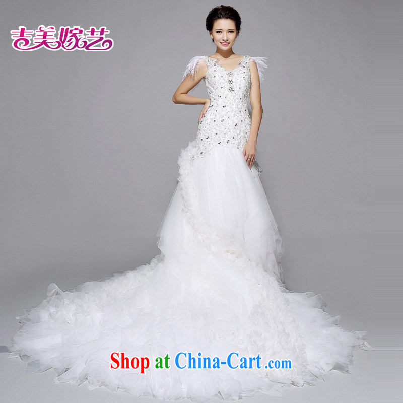 wedding dresses, marry us performing arts 2015 new lace high-end Korean tail 7312 bridal wedding B version XXXL, Jimmy married arts, and, on-line shopping