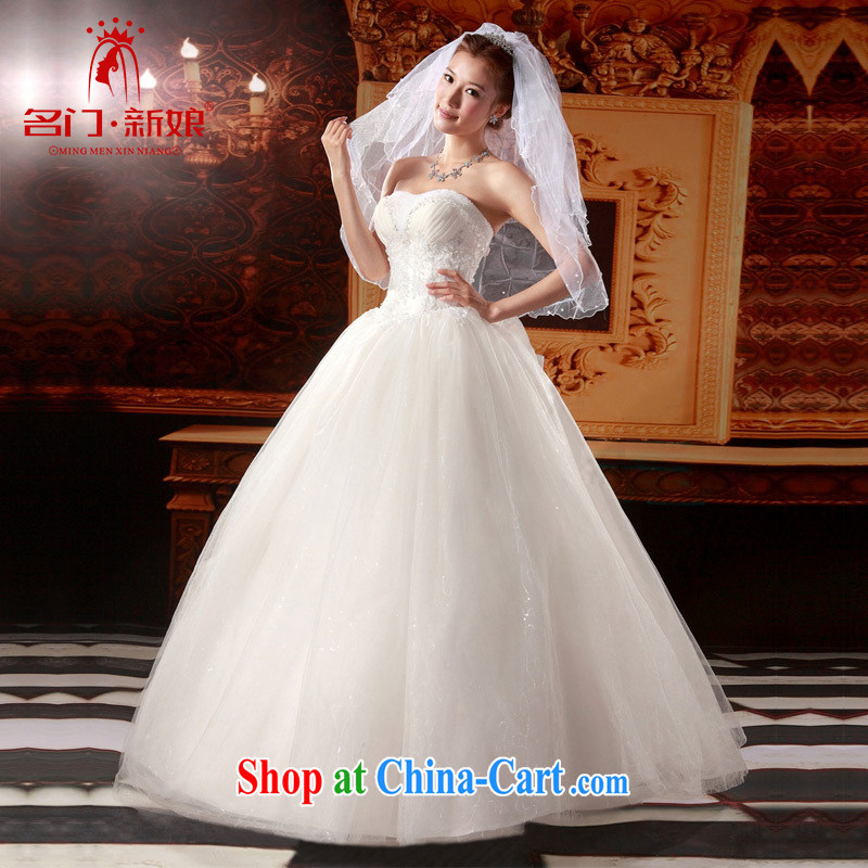 The bride's wedding dresses shaggy Princess wedding tail erase chest wedding sweet wedding 845 with S