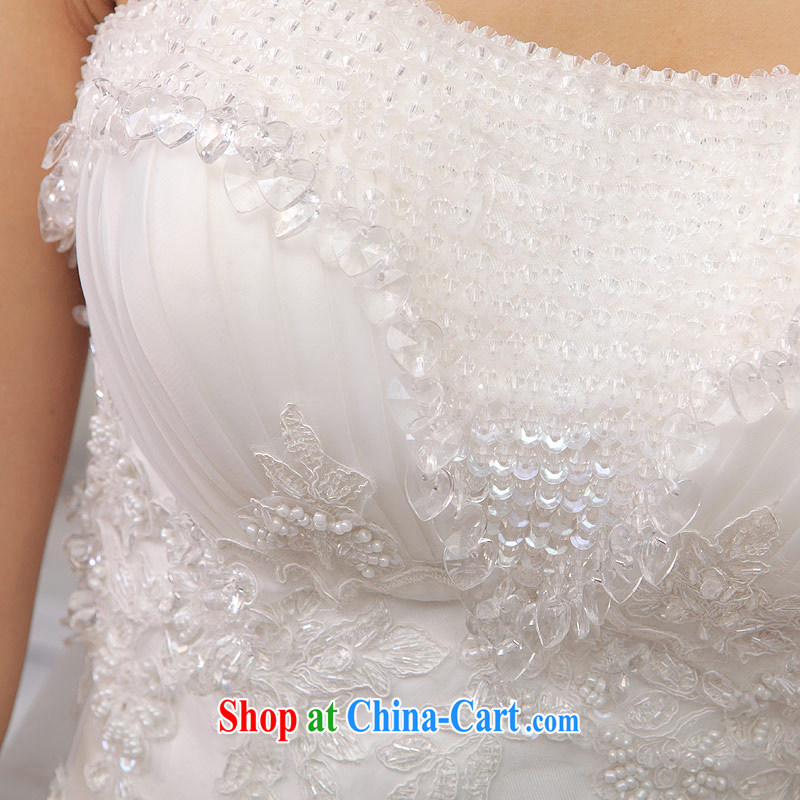 The bride's wedding dresses shaggy Princess wedding tail erase chest wedding sweet wedding 845 with S, the bride, shopping on the Internet