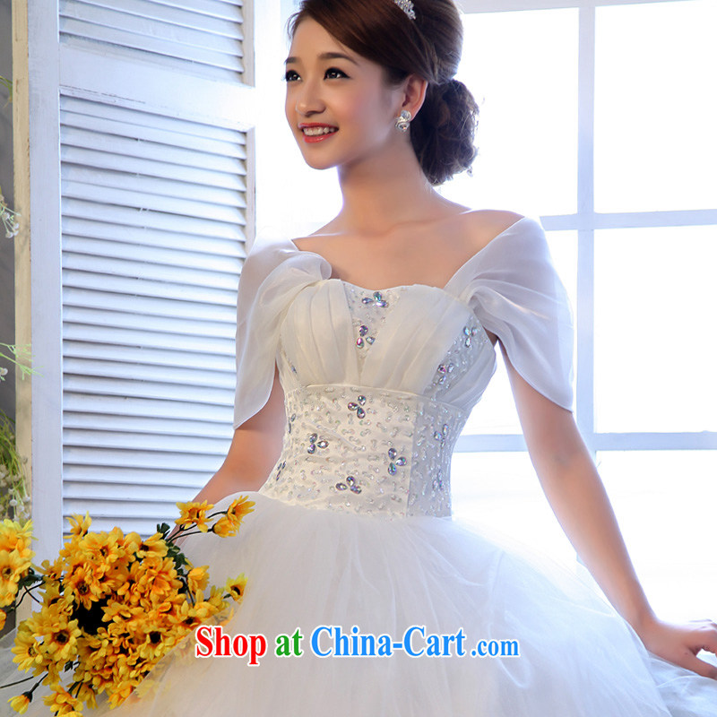 A good service is 2015 new bag shoulder wiped chest Korean bridal graphics thin wedding dresses larger thick mm wedding dress white 4XL