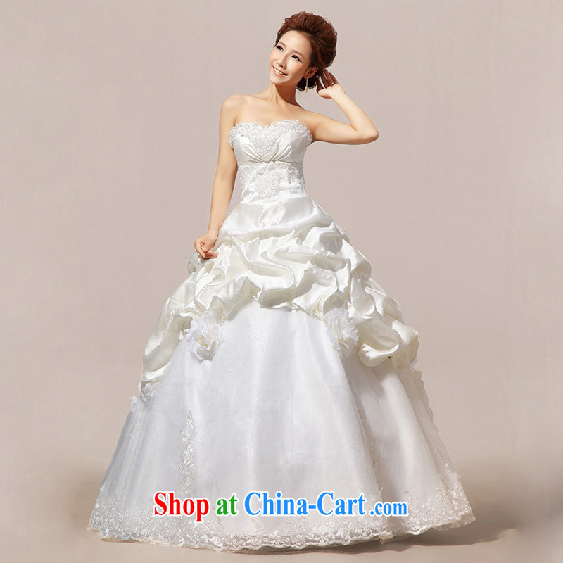 Light (at the end QM) Wedding wedding Korean Princess vera wang wedding CTX HS 20 m White XXL, shallow end, shopping on the Internet