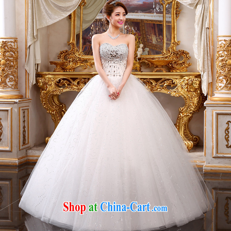 A good service is 2015 new bride Korean modern luxury erase chest Princess wedding dress tie wedding dress white XXL