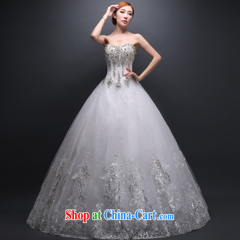 Hi Ka-hi wedding dresses new 2014 Winter Fashion Mary Magdalene marriage chest larger graphics thin with a strap wedding ivory left size tailored
