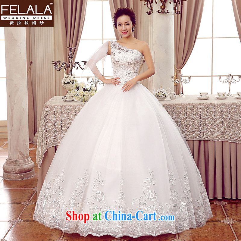 Ferrara 2015 new marriage Korean sweet single shoulder ribbons water drilling wedding XL _2 feet 2_