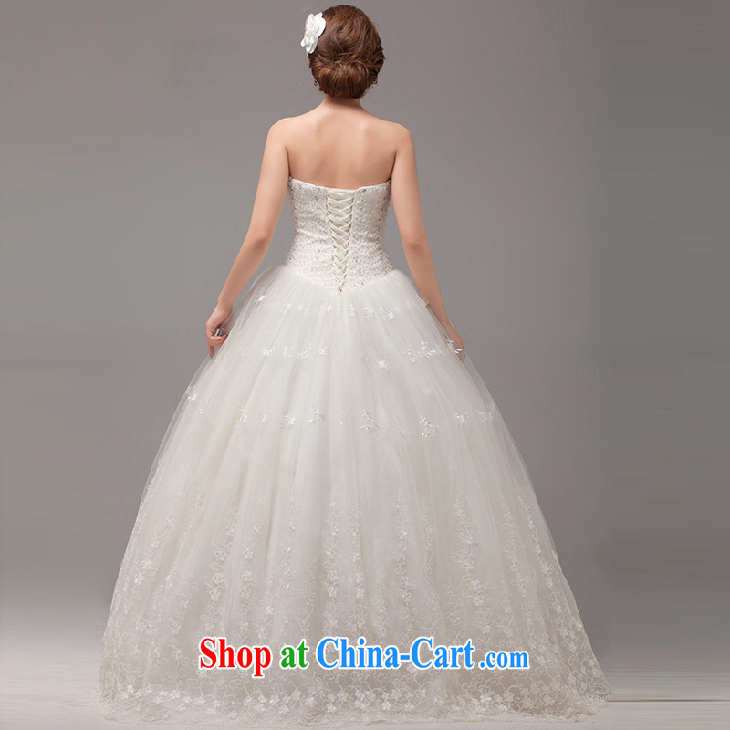 MSLover Korean version with straps bridal wedding Princess the waist graphics thin wedding manually staple Pearl sweet Mary Magdalene chest lace wedding HS 131,005 m White tailored, name, Elizabeth (MSLOVER), and, on-line shopping
