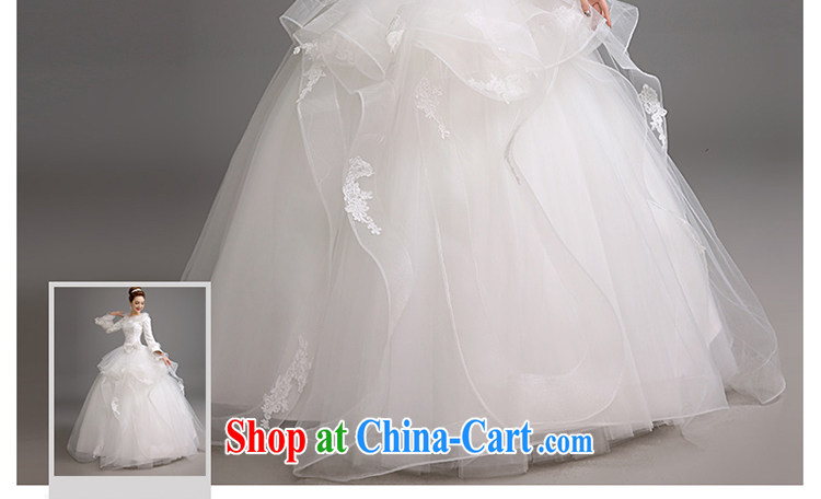 Early spread in winter, marriages wedding dresses Korean video thin thick wedding thick warm long-sleeved shaggy dress wedding white XXL code pictures, price, brand platters! Elections are good character, the national distribution, so why buy now enjoy more preferential! Health