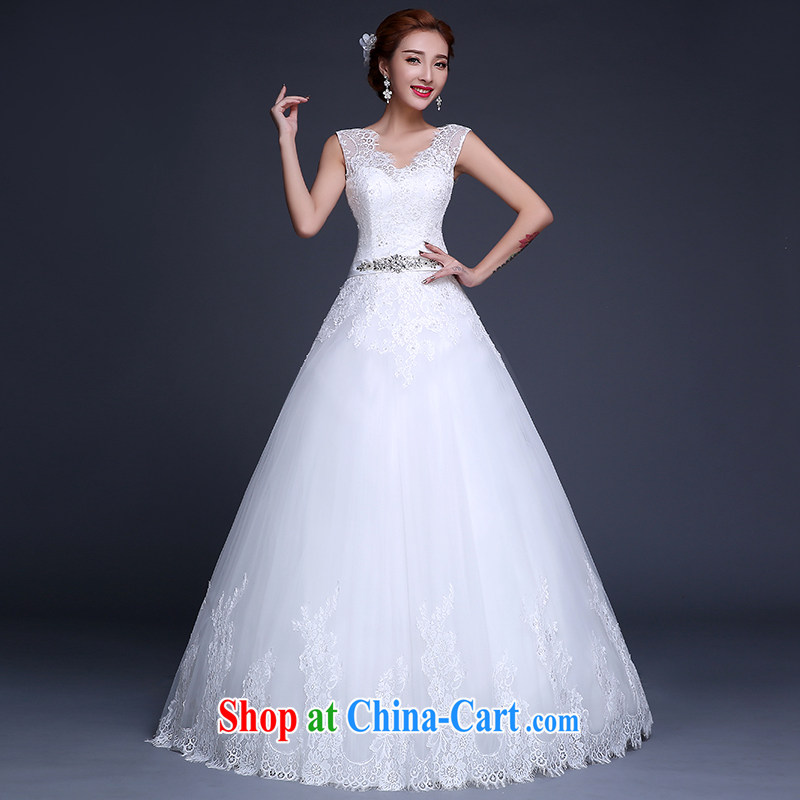 Sophie HIV than new 2015 wedding dresses summer Korean bridal white beauty wedding with parquet drill wipe the chest, wedding video thin wedding female white XL