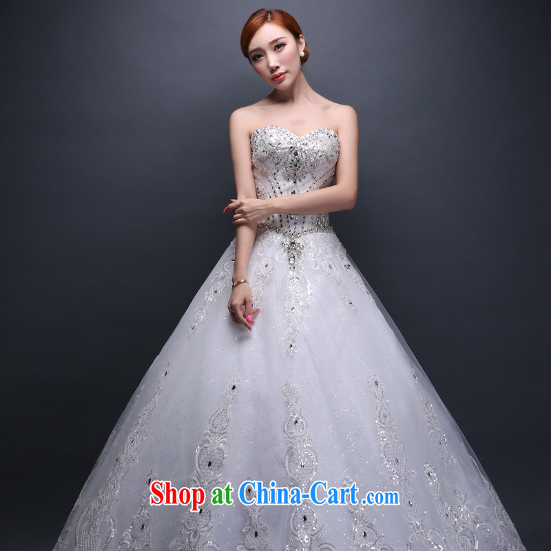 Hi Ka-hi wedding dresses new 2014 Winter Fashion Mary Magdalene marriage chest the code with a strap wedding ivory XXL