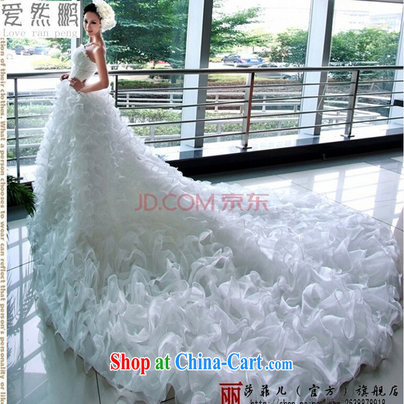 Love so Pang Lisa Philip's Bohemia, Korean Princess bride-tail wedding dresses Korean marriage new 67 MM white XS pieced