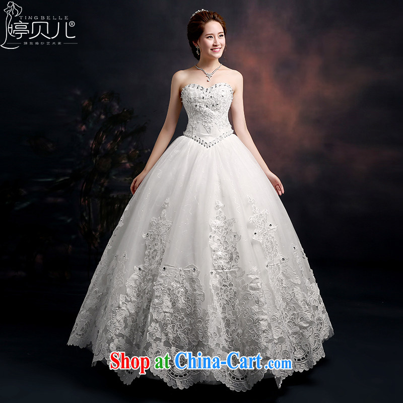 Ting Beverly wedding dresses 2015 new marriages and stylish Korean wedding chest erase graphics thin beauty the code strap with white XXL