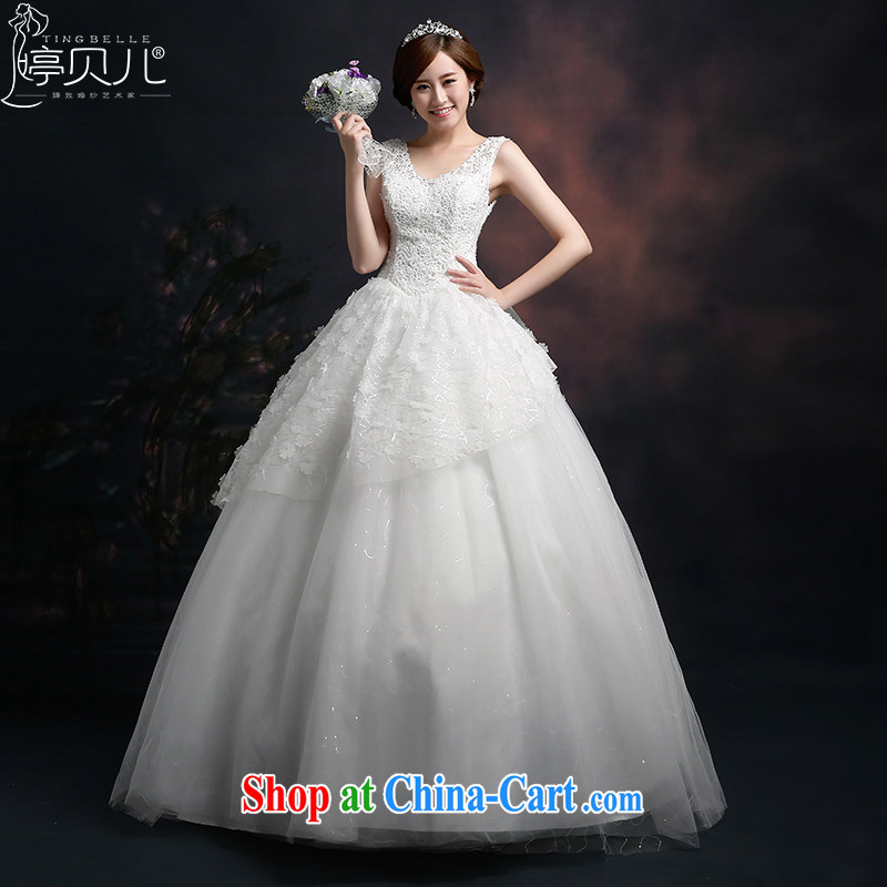 Ting Beverly wedding dresses 2015 new stylish marriages shoulders Wedding Video thin beauty lace Korean white with white XXL