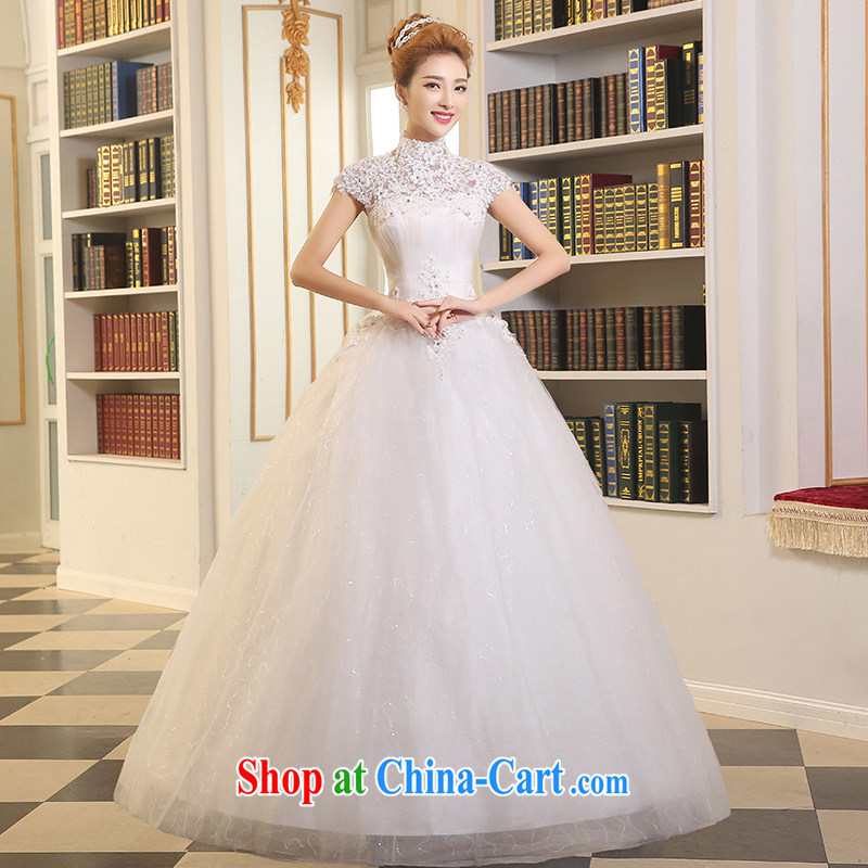 Sophie Abby wedding dresses summer 2015 new stylish Korean wedding package shoulder high white wedding lace Princess shaggy dress straps with female white XXL