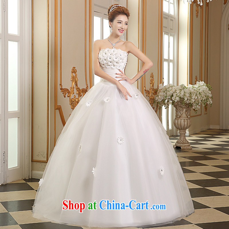 Sophie Abby wedding dresses 2015 style with white flowers wedding wiped his chest, wedding summer marriages wedding beauty graphics thin wedding dresses white XXL