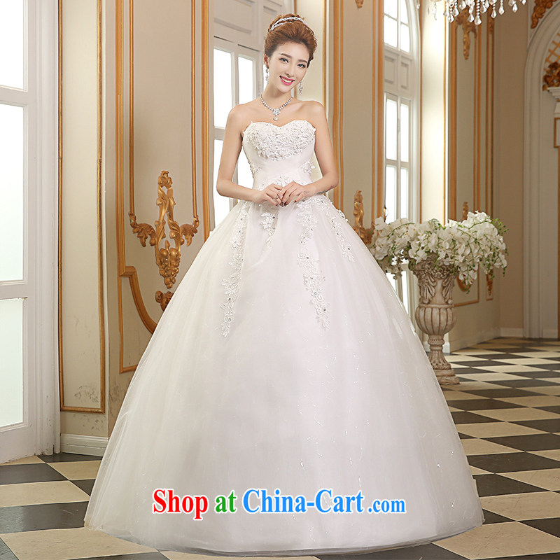Sophie HIV than marriages wedding dresses 2015 heart-shaped bare chest strap wedding summer fashion beauty graphics thin wedding, white lace wedding white XXL