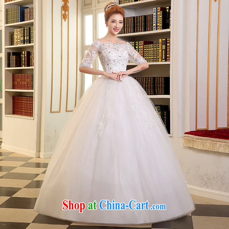 Sophie THE MORE THAN 2015 new stylish summer, marriages wedding heart-shaped bare chest wedding tied with lace waist in an elegant white with wedding dress white XXL