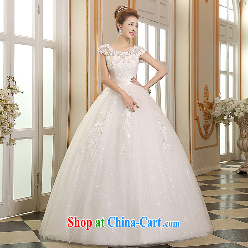 Sophie than AIDS summer 2015 marriages wedding dresses lace stylish wiped chest wedding elegant field shoulder wedding white beauty graphics thin wedding white XXL
