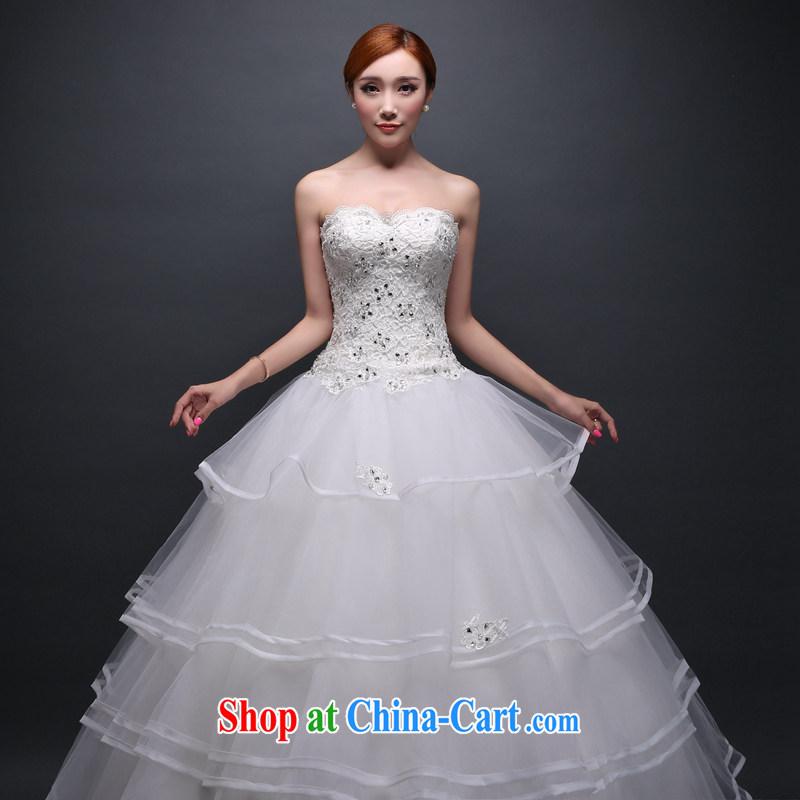 Hi Ka-hi wedding dresses new 2014 Winter Fashion bridal Mary Magdalene Princess chest with a strap wedding ivory left size tailored