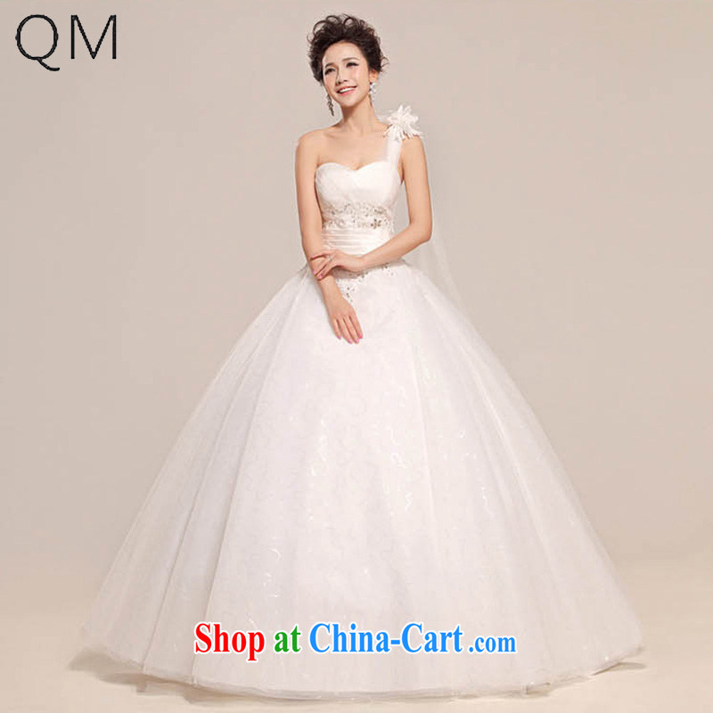 Light _at the end QM_ bridal wedding dresses wedding with bride single shoulder bare chest wedding CTX HS 509 meters white XXL