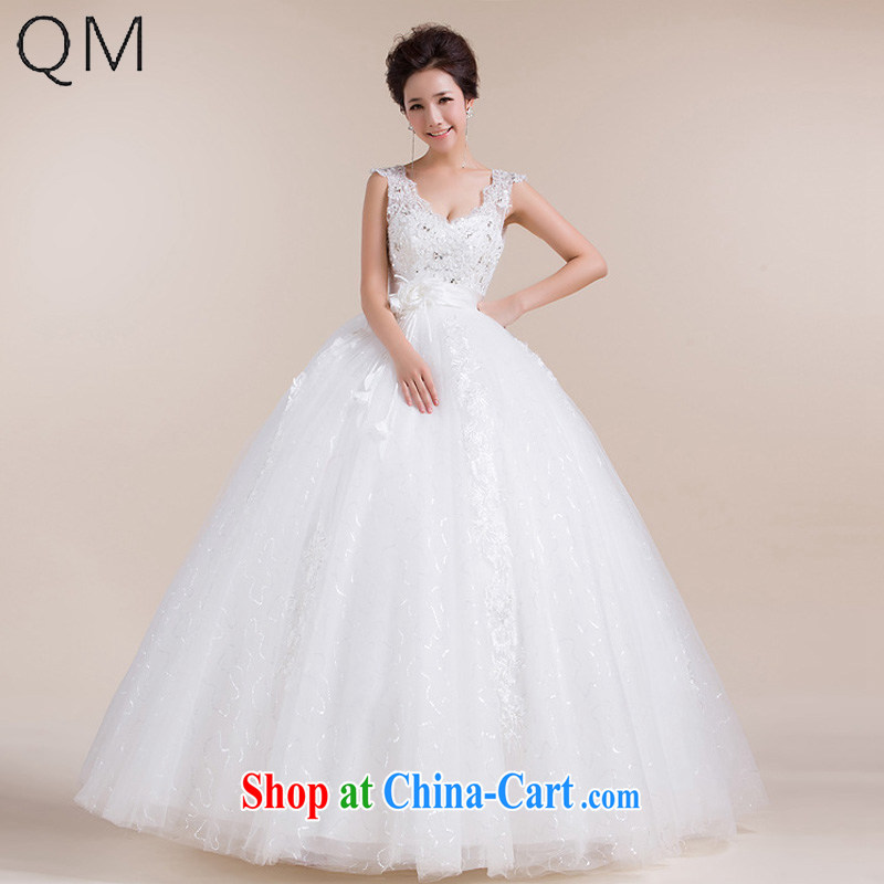 Shallow end _QM_ bridal wedding dresses stylish pregnant wedding high waist with retro CTX HS 1020 m White XXL