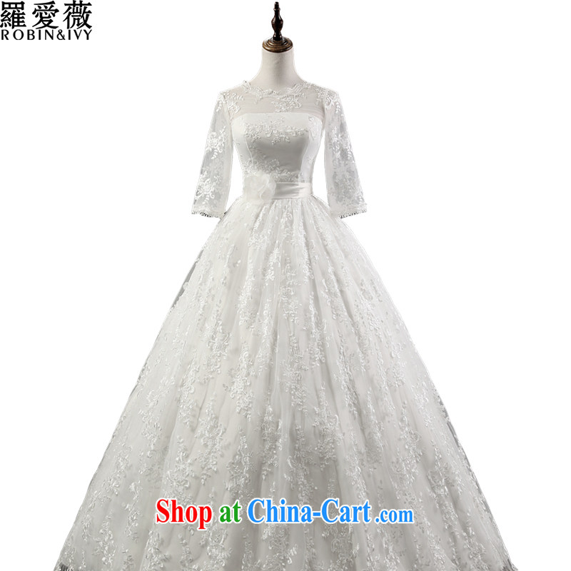 Love, Ms Audrey EU Yuet-mee, RobinIvy_ wedding dresses 2015 new lace round-collar 7 cuff marriages with 15,061 H white XL