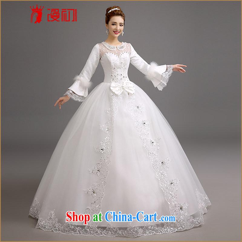 Early definition 2015 new winter wedding Korean winter graphics thin wedding winter, thick graphics thin shaggy dress wedding dresses white. Contact Customer Service