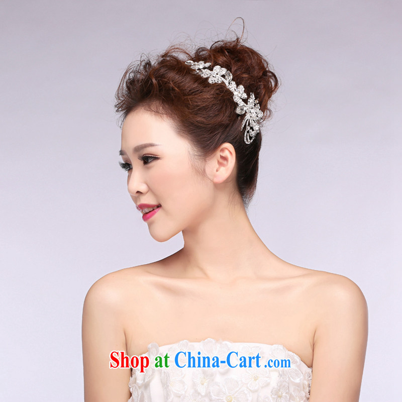 Hi Ka hi 2014 new bridal jewelry wedding Crown beautiful diamond wedding accessories and ornaments NH 01 ivory are code