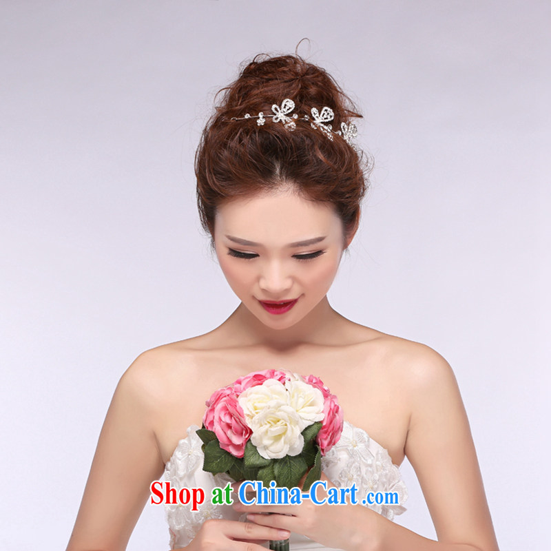 Hi Ka hi 2014 new bridal jewelry wedding Crown beautiful diamond wedding accessories and ornaments NH 04 ivory are code
