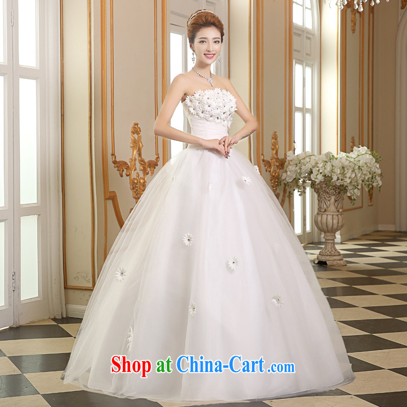 The Vanessa wedding dresses 2015 summer new Bridal Fashion wedding white lace wedding erase chest strap wedding with wedding bridal marriage wedding female white S (+ shawls)