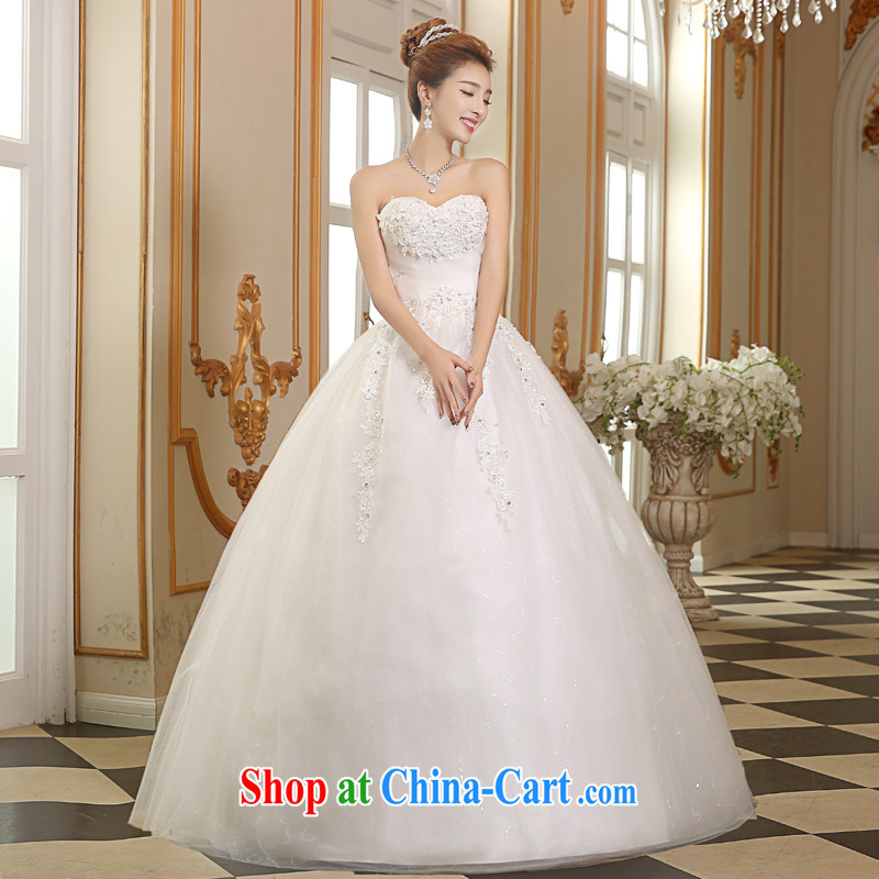 The Vanessa wedding dresses 2015 summer new erase chest wedding with wedding marriages wedding white lace larger wedding beauty chest bare wedding white XL (+ shawls)