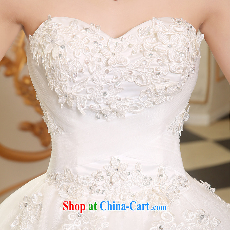 The Vanessa wedding dresses 2015 summer new erase chest wedding with wedding bridal marriage wedding white lace large code wedding beauty chest bare wedding white XL (+ shawl, the Vanessa (Pnessa), online shopping