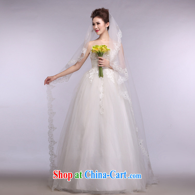 Hi Ka-hi 2014 new wedding and yarn ultra-long wood drill lace lace and yarn soft Web yarn XT 15 white are code