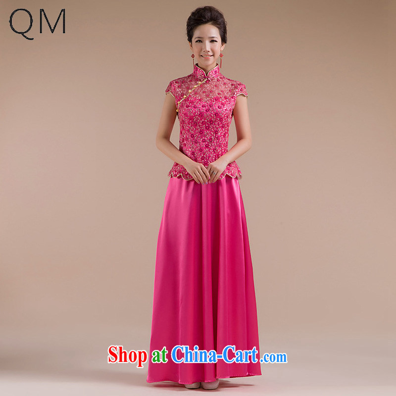Shallow end (QM) wedding dresses wedding dresses bridal toast clothing retro wedding dresses CTX QP - 111 the red XXL