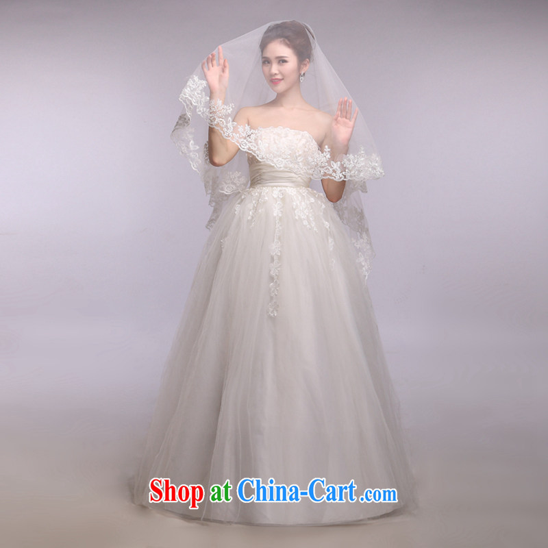 Hi Ka-hi 2014 new wedding and yarn ultra-long lace lace and yarn soft Web yarn XT 19 white are code