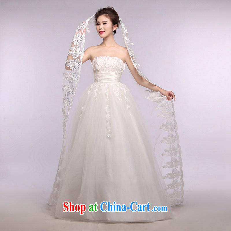 Hi Ka-hi 2014 new wedding and yarn ultra-long lace lace and yarn soft Web yarn XT 22 white are code
