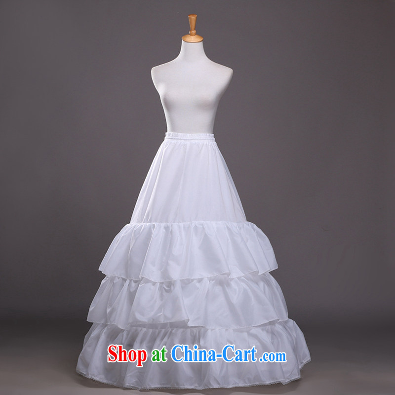 Hi Ka-hi 2014 new 3 ring the yarn large flouncing A swing wedding dress stays QC 01 white are code