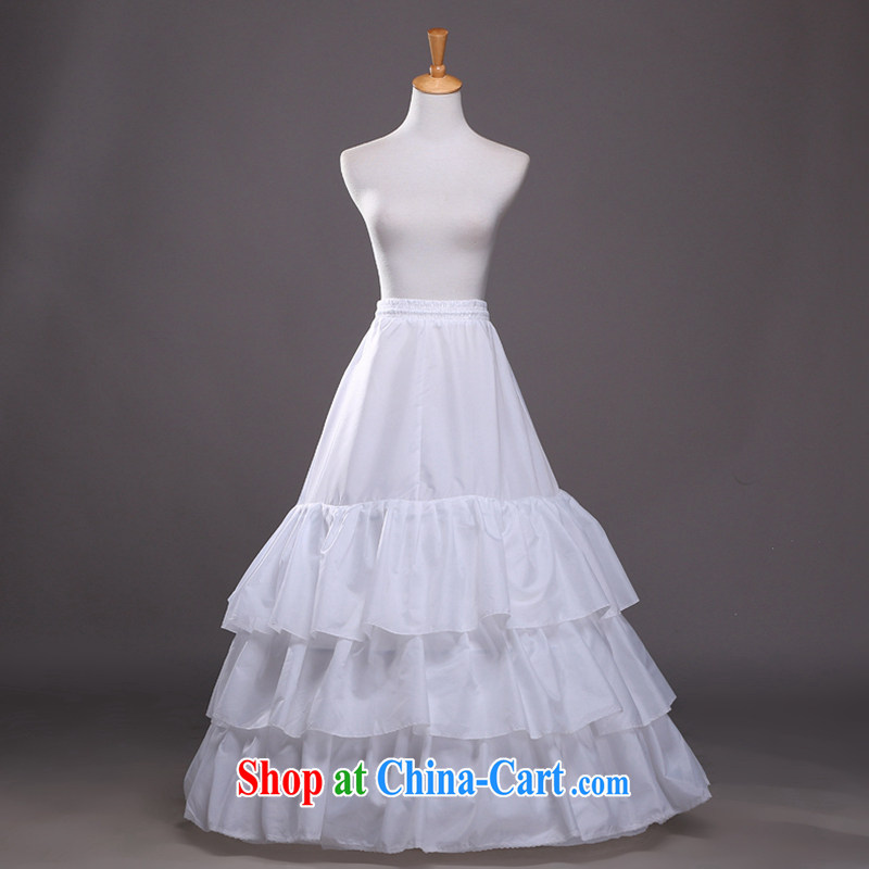 Hi Ka-hi 2014 new 3 ring the yarn large flouncing A swing wedding dress stays QC 03 white are code