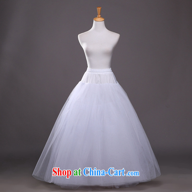 Hi Ka-hi 2014 new 6-Layer increase bone skirt stays natural loose curls soft wedding built-in petticoat QC 04 white are code