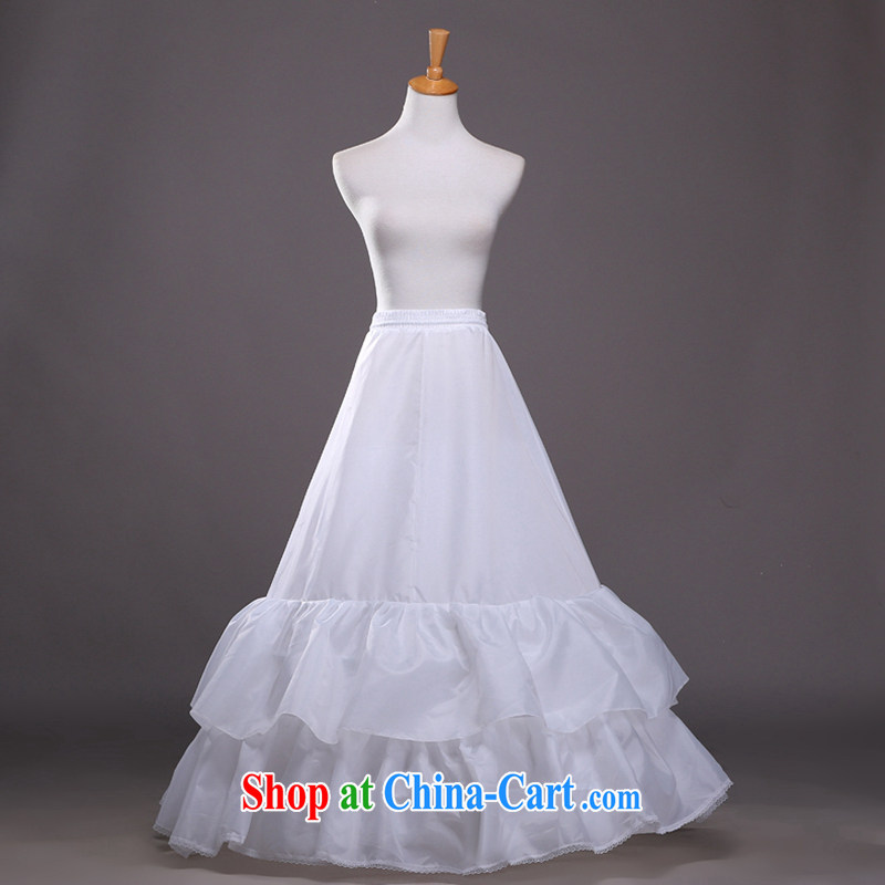 Hi Ka-hi 2014 New A shoring up skirt double flouncing wedding dress stays elastic waistband QC 05 white are code