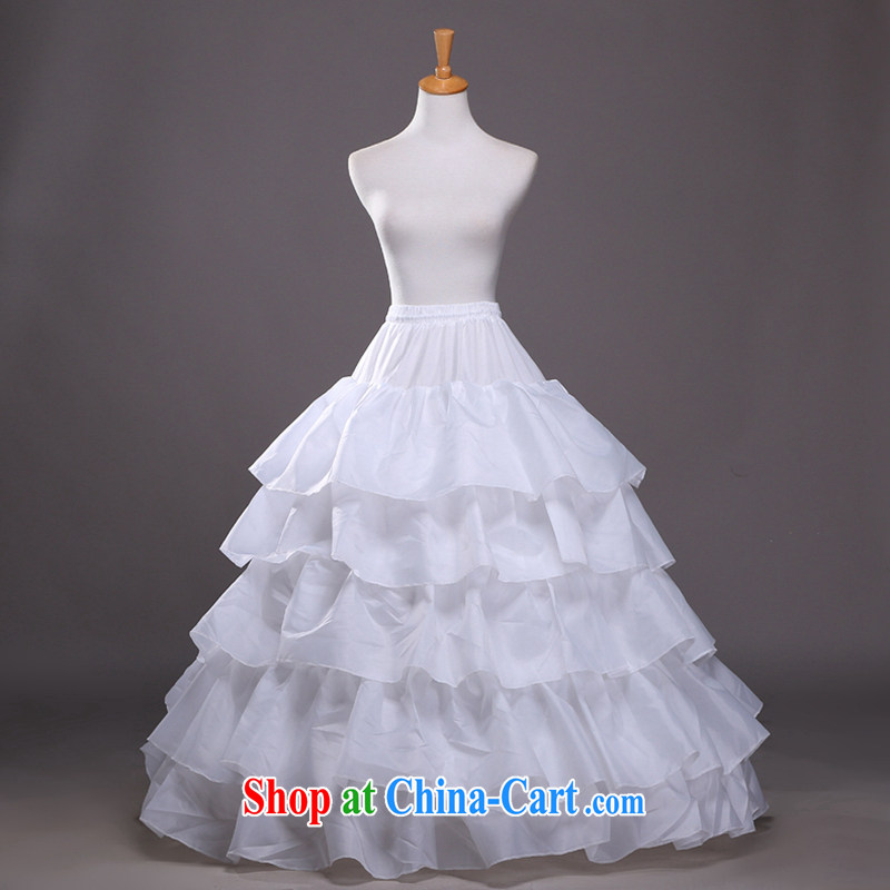 Hi Ka-summer 2014 new 3 ring the yarn large flouncing with shaggy dress bridal wedding dress stays QC 07 white are code