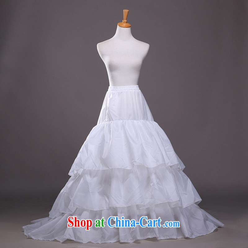 Hi Ka-hi wedding dresses 2014 new large Tail Prop skirt layer 3 flouncing wedding dress party Korean thin stays firm QC 09 white are code
