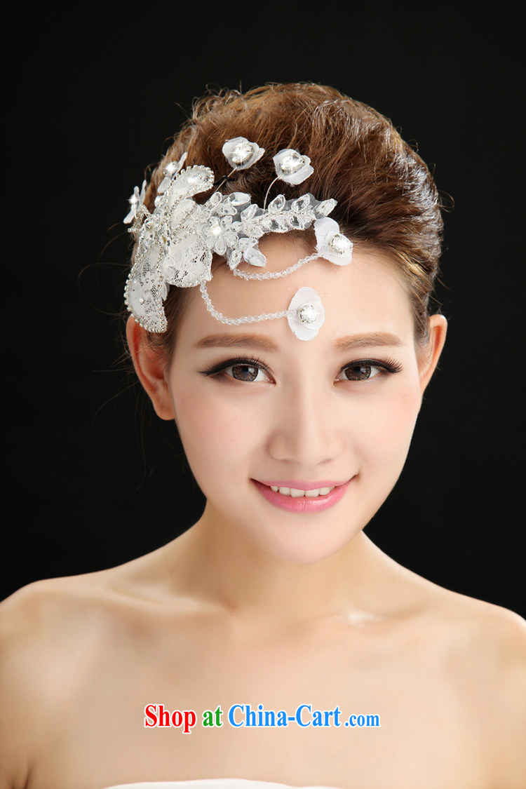 New plain manual bridal jewelry lace and flower-decorated wedding dresses accessories jewelry wedding head-dress and adornment white