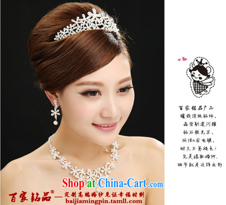 100 Ka-ming, bridal jewelry Korean-style 3-Piece wedding dresses with the Crown and ornaments necklaces earrings hair accessories white pictures, price, brand platters! Elections are good character, the national distribution, so why buy now enjoy more preferential! Health